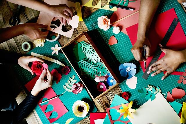 Equipe de trabalho de artesanato