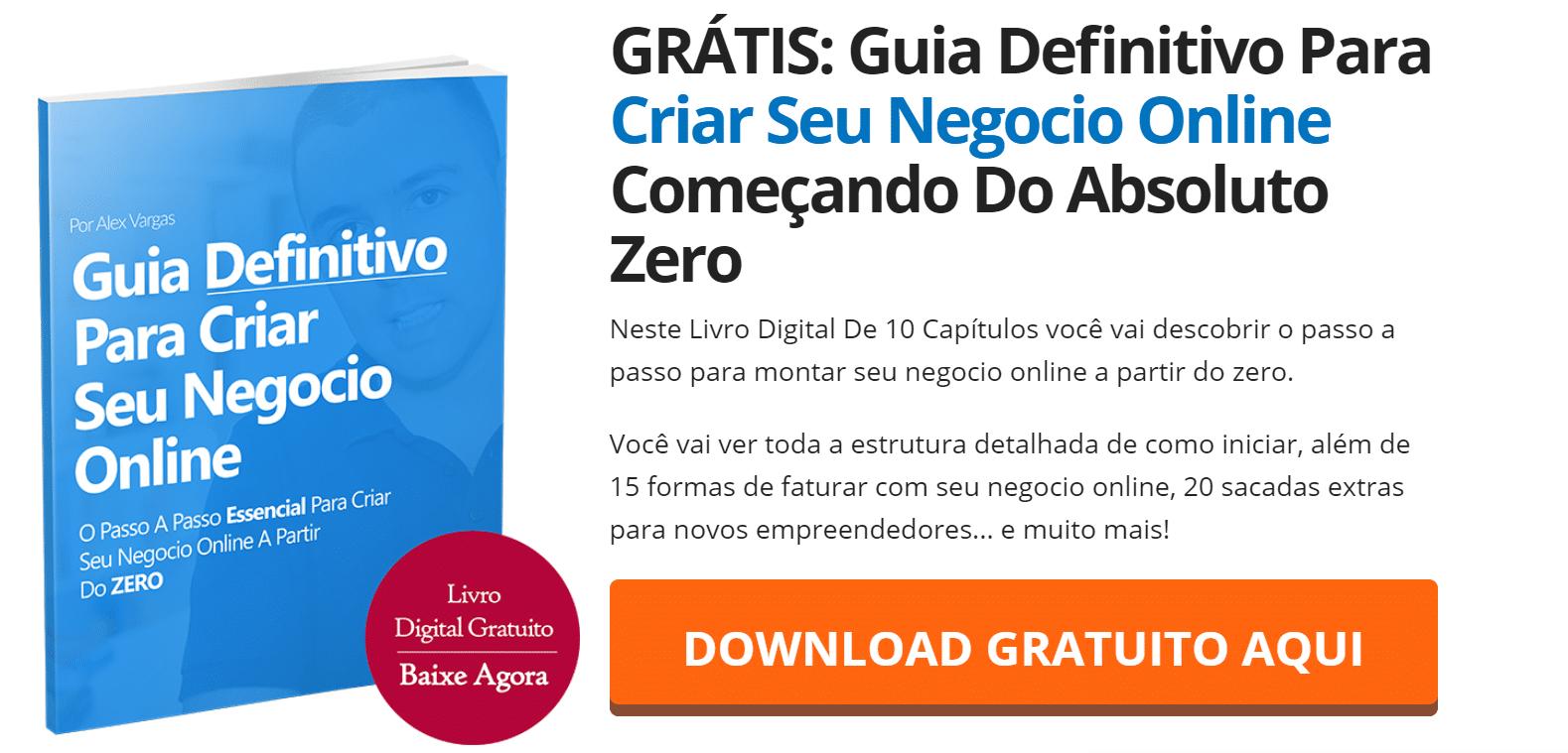 Grátis Guia definitivo para criar seu negócio online do zero